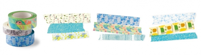 ユニカラート いろんなアートが詰まった彩りマスキングテープの会 月1セット ¥780(税別)